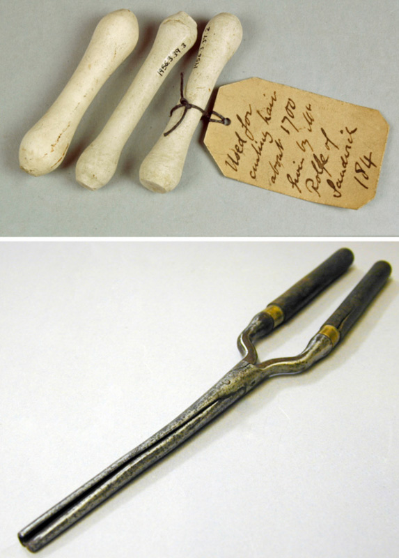 Pitt Rivers Museum Body Arts | Wig curlers and hair tongs