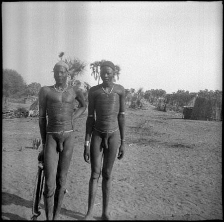 African naked girls stock photos
